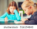 little siblings with school... | Shutterstock . vector #516154843