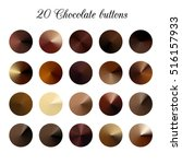 brown tone color shade... | Shutterstock .eps vector #516157933