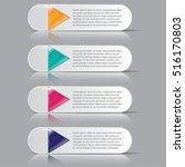 infographics business steps...   Shutterstock .eps vector #516170803