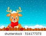 a happy christmas santas... | Shutterstock .eps vector #516177373