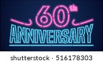 60 years anniversary vector... | Shutterstock .eps vector #516178303