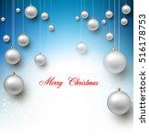 elegant shiny christmas... | Shutterstock .eps vector #516178753
