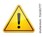 exclamation danger sign vector | Shutterstock .eps vector #516181777