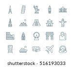 set of landmarks  travel vector ... | Shutterstock .eps vector #516193033