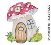 Gnome House Watercolor...