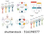 set with infographics. data and ... | Shutterstock .eps vector #516198577