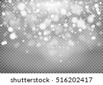 winter with snow in transparent ... | Shutterstock .eps vector #516202417