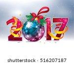 2017 happy new year. vector... | Shutterstock .eps vector #516207187
