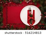 christmas and new year... | Shutterstock . vector #516214813