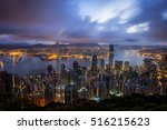 cityscape sunrise from top of...   Shutterstock . vector #516215623