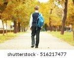 Cute Teenager Walking Along...