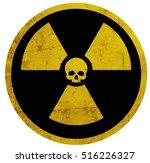 radiation symbol skull | Shutterstock .eps vector #516226327