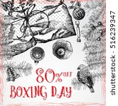 boxing day 80 percent off... | Shutterstock .eps vector #516239347