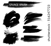 vector set of grunge brush... | Shutterstock .eps vector #516247723