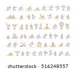 vector line sports icons. black ... | Shutterstock .eps vector #516248557