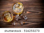 two glasses with ice and... | Shutterstock . vector #516253273