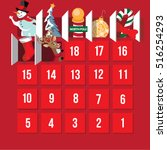 countdown to christmas advent... | Shutterstock .eps vector #516254293