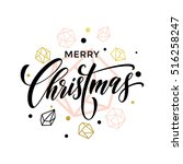 trend merry christmas gold... | Shutterstock .eps vector #516258247