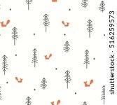 vector illustration of a winter ... | Shutterstock .eps vector #516259573