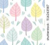 vector seamless pattern of... | Shutterstock .eps vector #516263587