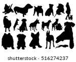 dogs silhouettes set | Shutterstock .eps vector #516274237