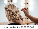 female hairdresser making... | Shutterstock . vector #516275347