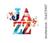 jazz typographic vector... | Shutterstock .eps vector #516275407