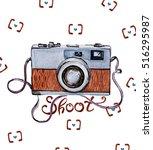watercolor illustration   retro ... | Shutterstock . vector #516295987