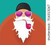 vector rock n roll santa claus... | Shutterstock .eps vector #516313267