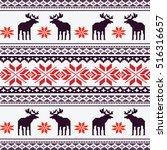 scandinavian style seamless ...   Shutterstock .eps vector #516316657