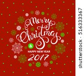 christmas greeting card with... | Shutterstock .eps vector #516333367