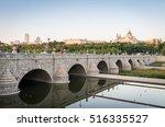 madrid skyline with the segovia ... | Shutterstock . vector #516335527