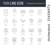 icons set of education... | Shutterstock .eps vector #516336973