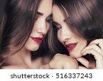 Fashion Studio Photo Of Two...