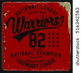 vintage varsity graphics and... | Shutterstock .eps vector #516342583