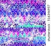 cool aztec geometric gradient... | Shutterstock . vector #516346957