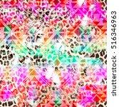 cool aztec geometric gradient... | Shutterstock . vector #516346963