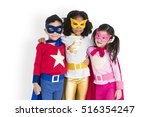 Small photo of Superhero Adolescence Child Kid Expertise Concept