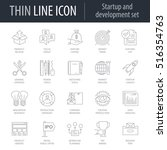 icons set of icons of startup... | Shutterstock .eps vector #516354763