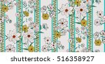 seamless floral pattern in... | Shutterstock .eps vector #516358927
