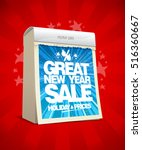great new year sale poster... | Shutterstock .eps vector #516360667