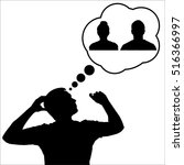 silhouettes of people's faces.... | Shutterstock .eps vector #516366997