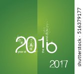 the end 2016 new year 2017... | Shutterstock .eps vector #516379177