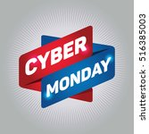 cyber monday arrow tag sign. | Shutterstock .eps vector #516385003