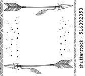 arrow of boho style design | Shutterstock .eps vector #516392353