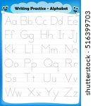 alphabet letters tracing... | Shutterstock .eps vector #516399703