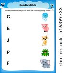 kids worksheet match the...   Shutterstock .eps vector #516399733