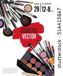 cosmetics product presentation... | Shutterstock .eps vector #516415867