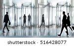 entrance of the modern business ... | Shutterstock . vector #516428077