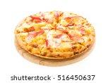 pizza hawaiian seafood on... | Shutterstock . vector #516450637